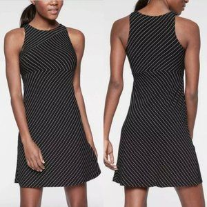 Athleta Santorini High Neck Tank Dress Modal Black